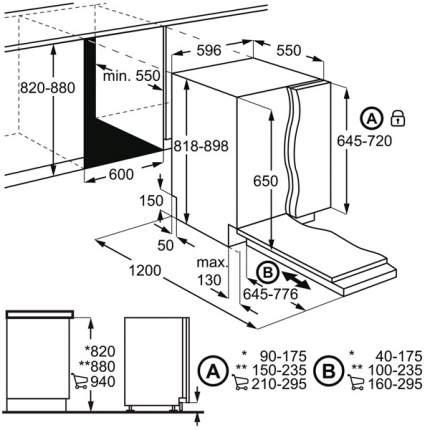 Встраиваемая посудомоечная машина 60 см Electrolux EES948300L