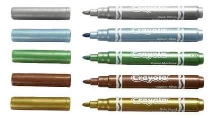 Набор фломастеров цвета металлик