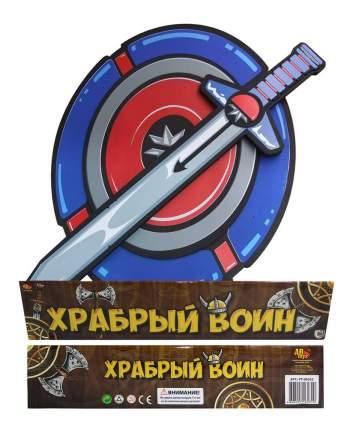 Храбрый воин Меч в наборе с Щитом из вспененной пластмассы (голубой цвет) pt-00352