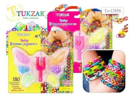 Набор для творчества цветные резиночки бабочка 180 штук, станок-рогатка, крючок