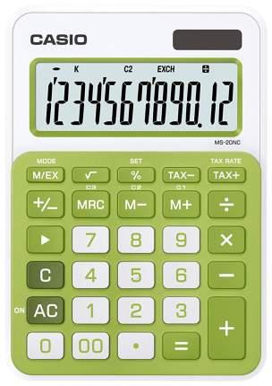 Калькулятор Casio MS-20NC-GN-S-EC Белый, зеленый