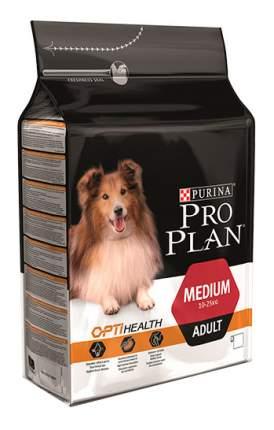 Сухой корм для собак PRO PLAN OptiHealth Medium Adult, для средних пород, курица, 1,5кг