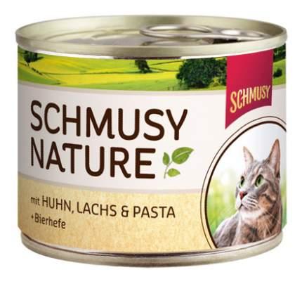 Консервы для кошек Schmusy Nature's Menu, с курицей и лососем, 190г