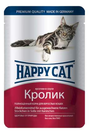 Влажный корм для кошек Happy Cat, кролик, 22шт, 100г