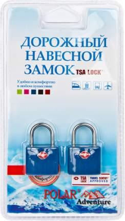 Замок для багажа навесной с ключами Polar синий 2 шт. 800507