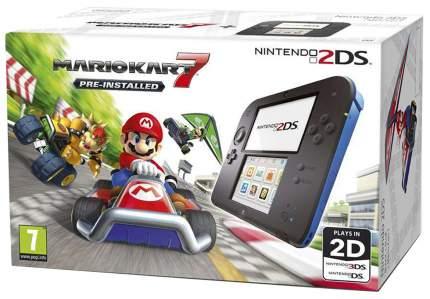 Портативная игровая консоль Nintendo 2DS Black/Blue
