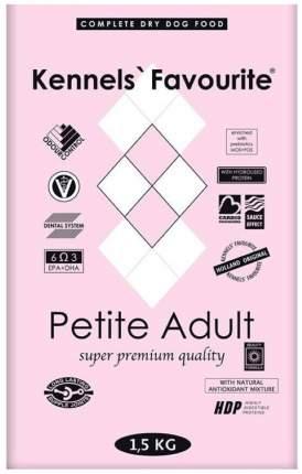 Сухой корм для собак Kennels Favourite Petite Adult, для мелких пород, утка, 1,5кг