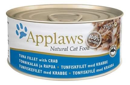 Влажный корм для кошек Applaws, тунец, крабы, 70г
