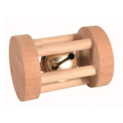 Игрушка для грызунов TRIXIE Барабан с колокольчиком, дерево, 3,5х5 см