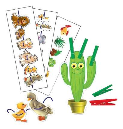 Семейная настольная игра Vladi Toys игра с прищепками и шнурочками Солнышко
