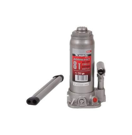Домкрат гидравлический бутылочный Matrix 50723 8 т высота подъема 230–457 мм