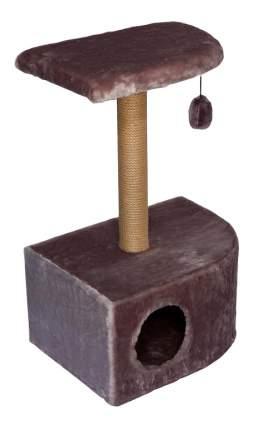 Комплекс для кошек Дарэлл Домик-когтеточка угловой 36*49*73см цвет в ассортименте
