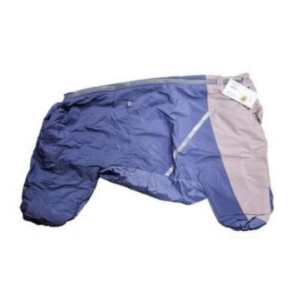 Комбинезон для собак Зоофантазия размер L женский, синий, серый, длина спины 65 см