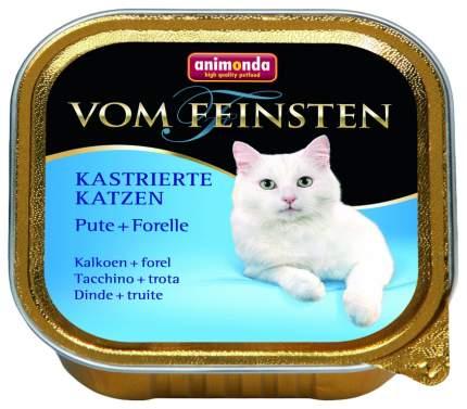 Консервы для кошек Animonda Vom Feinsten Kastrierte Katzen, индейка, форель, лосось, 100г