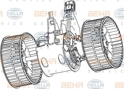 Двигатель моторчика печки Hella 8EW 351 040-651