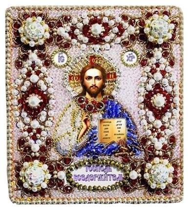 Вышивание хрустальными бусинами Образа в каменьях Господь Вседержитель 77-Ю-02