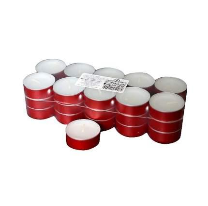 Свеча чайная 30 шт, 4 см, красная 0484