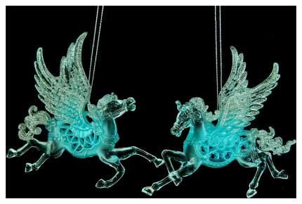 Елочная игрушка Crystal Deco 150196 Бирюзовый, прозрачный