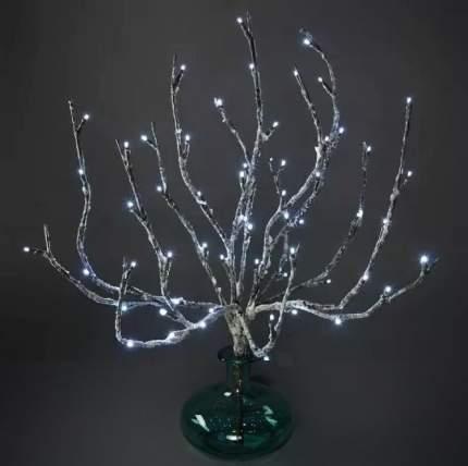 """Kaemingk Букет """"Заснеженная ветка"""", 50 см, уличный, 60 холодных белых LED ламп 495009"""