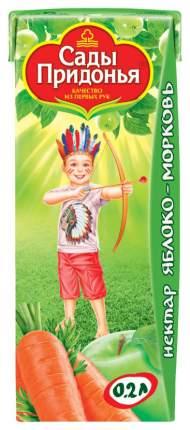 Нектар Сады Придонья Яблоко и морковь с мякотью с 6 мес 200 мл