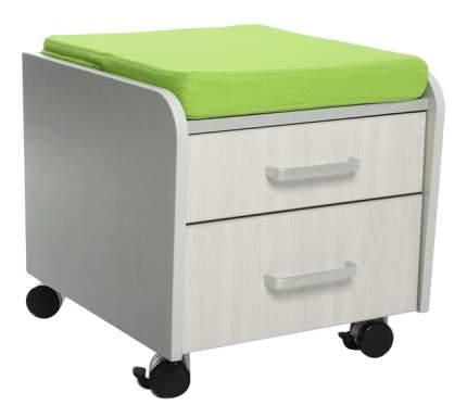 Комод пеленальный Comf-Pro BD-C2TG/KZ белый дуб/салатовая