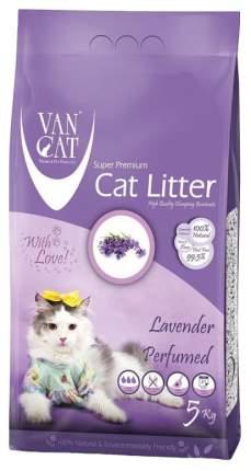 Комкующийся наполнитель для кошек Van Cat бентонитовый, лаванда, 5 кг, 6 л