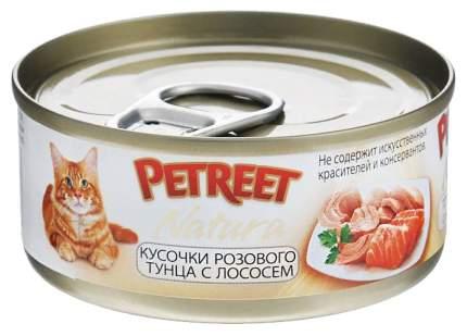 Консервы для кошек Petreet Natura, тунец, лосось, кусочки, 24шт, 70г