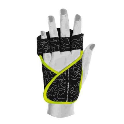 Перчатки для фитнеса Chiba Lady Motivation Glove, черные/серые/зеленые, S