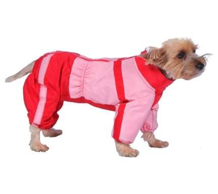 Комбинезон для собак ТУЗИК размер M женский, красный, розовый, длина спины 30 см