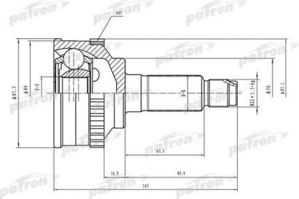 Шрус PATRON PCV1464