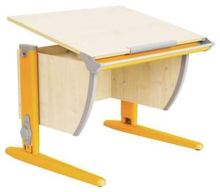 Парта Дэми СУТ 14-02Д 75 см С задней двухъярусной и боковой приставками Клен Оранжевый