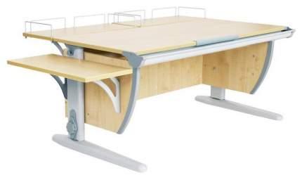 Парта Дэми 120х55 см С двумя задними и боковой приставками и подвесной тумбой Клен Серый