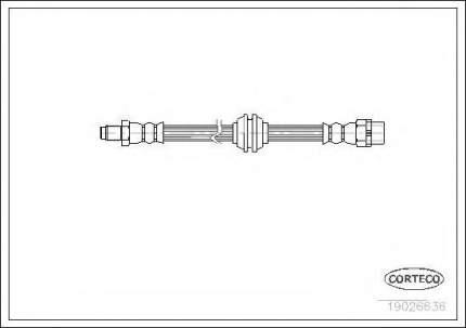 Шланг тормозной Corteco 19026636