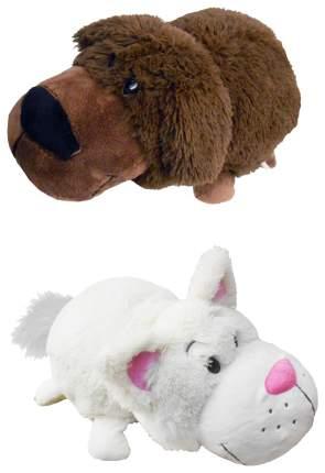 Мягкая игрушка 1 TOY Вывернушка Шоколадный лабрадор белый кот 20 см