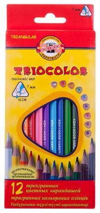 Набор карандашей цветных 12 цветов KOH-I-NOOR Triocolor