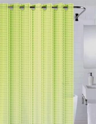 Штора для ванны 3D (зеленый) 180*200