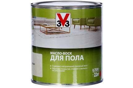 Масло-воск для пола 3V3 0.75л. белое
