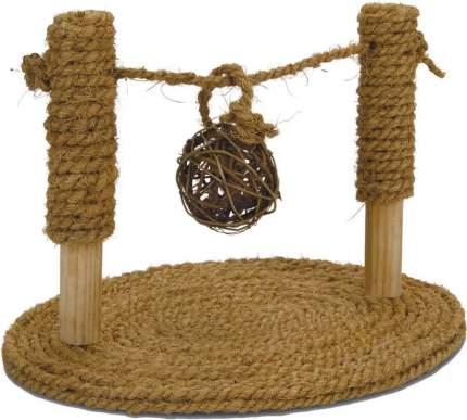 Игрушка для грызунов Beeztees Турник из кокосовой веревки с мячиком, 19х24х16,5 см