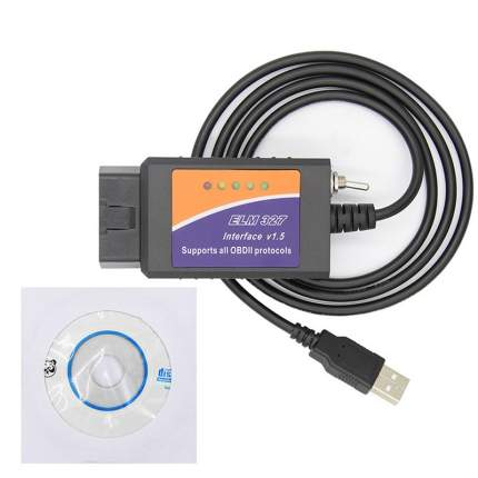 Диагоностический кабель 2emarket ELM327 USB с переключателем