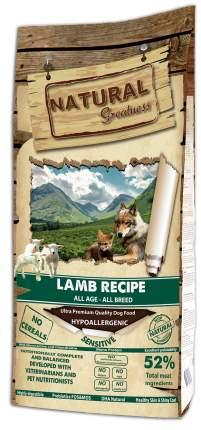 Сухой корм для собак Natural Greatness Lamb Recipe Sensitive, ягненок, 18 кг
