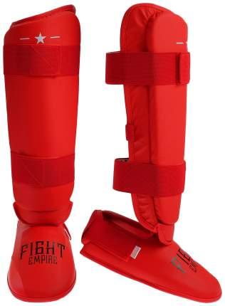 Защита голень+стопа FIGHT EMPIRE, размер L, цвет красный FIGHT EMPIRE
