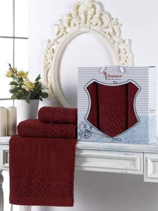 Полотенце Juanna Prizma Цвет: Бордовый (50х90 см - 2 шт,70х140 см)