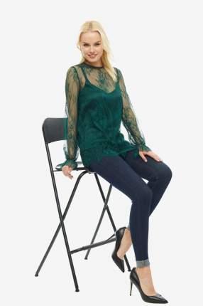 Блуза женская D&M by 1001DRESS DM01691EM зеленая XS