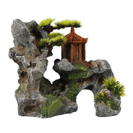 Декорация для аквариума AQUA DELLA Горная святыня, полиэфирная смола, 13х19,5х23,7 см
