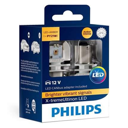 Светодиодные лампы Philips X-treme Ultinon PY21W - 11498XUAX2