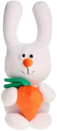 Зайка с морковкой белый 38 см