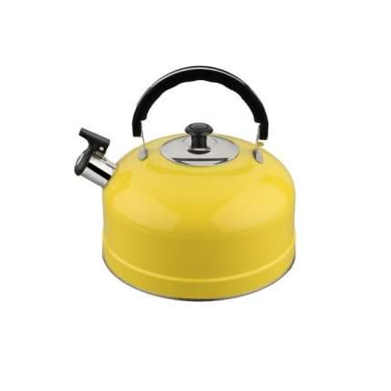 Чайник для плиты IRIT IRH-410 со свистком, желтый