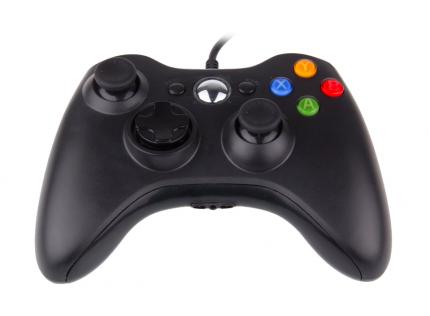 Геймпад 2emarket проводной для Xbox 360 и PC Black