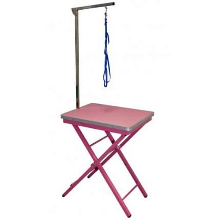 Стол для груминга Show Tech GROOM-X Ringside Table, складной, розовый, 60x45x73/82 см