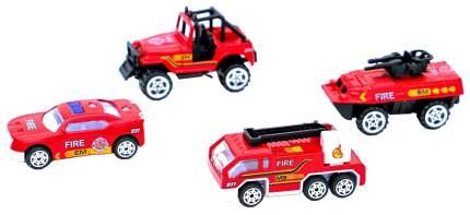 Набор металлических машинок Рыжий кот Пожарный транспорт 6 см, 4 штуки